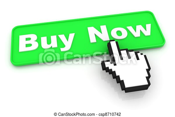 Buy Now Button with Hand Cursor - csp8710742