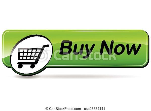 buy now green button - csp25654141