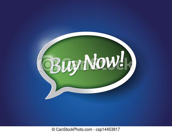 buy now message sign illustration design - csp14453817