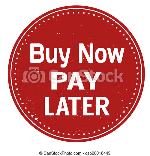 Buy now pay later stamp - csp20018443