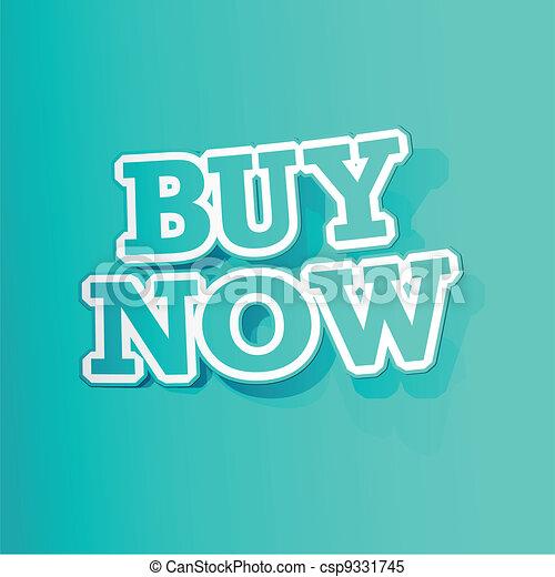 Buy Now Sticker - csp9331745