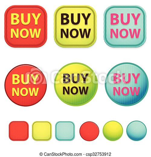 Buy now web button set vector desig - csp32753912