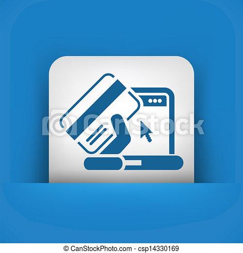 Buy online icon - csp14330169