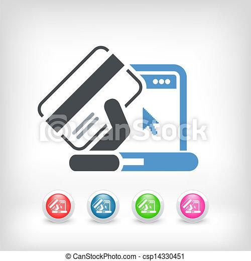Buy online icon - csp14330451
