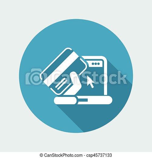 Buy online icon - csp45737133