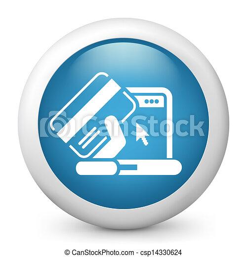 Buy online icon - csp14330624