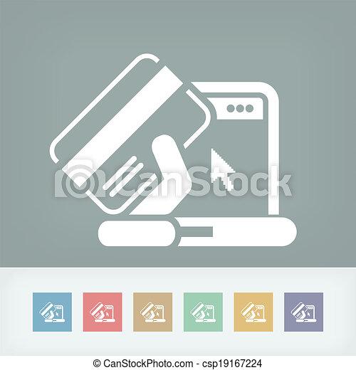 Buy online icon - csp19167224