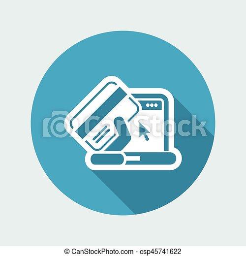 Buy online icon - csp45741622