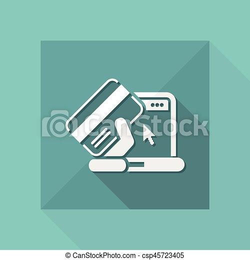 Buy online icon - csp45723405