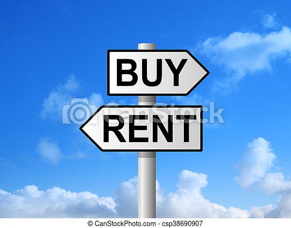 Buy Rent Sign - csp38690907