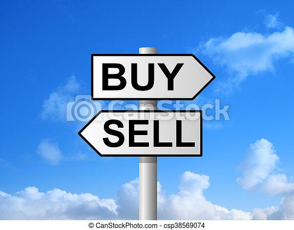 Buy Sell Signpost - csp38569074