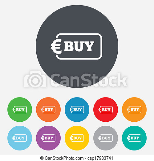 Buy sign icon. Online buying Euro button. - csp17933741