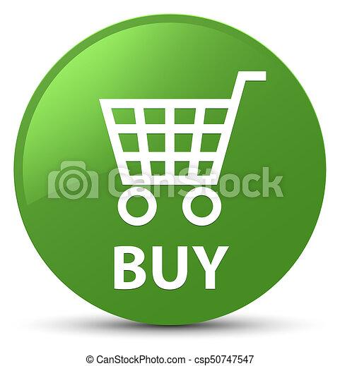 Buy soft green round button - csp50747547