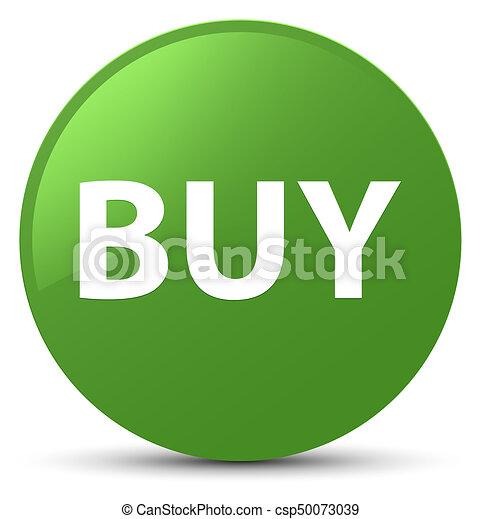 Buy soft green round button - csp50073039