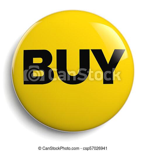 Buy Yellow Icon Symbol on White - csp57026941