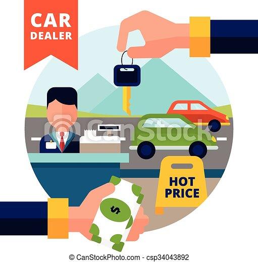 Buying Car Illustration - csp34043892