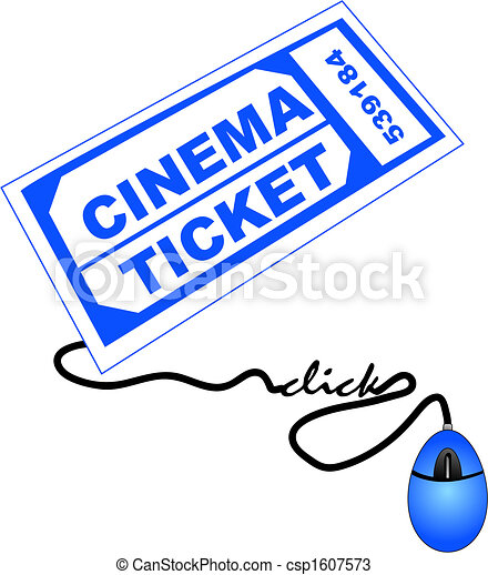 buying cinema tickets online shopping for cinema or movie rh canstockphoto com movie tickets clipart movie tickets clipart