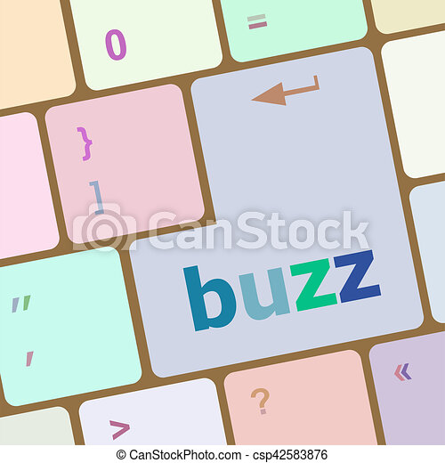 buzz word on computer keyboard key - csp42583876
