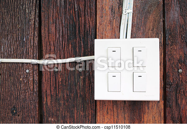 buzzer switch on wooden wall - csp11510108