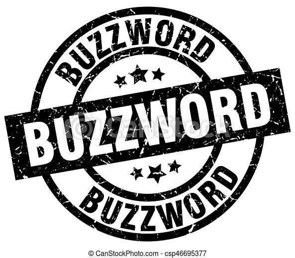 buzzword round grunge black stamp - csp46695377