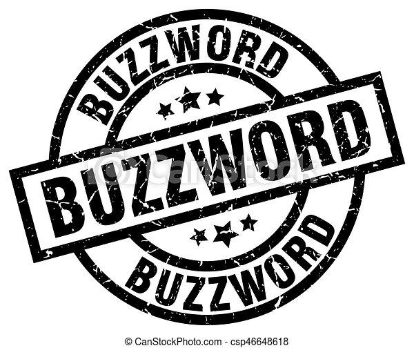 buzzword round grunge black stamp - csp46648618