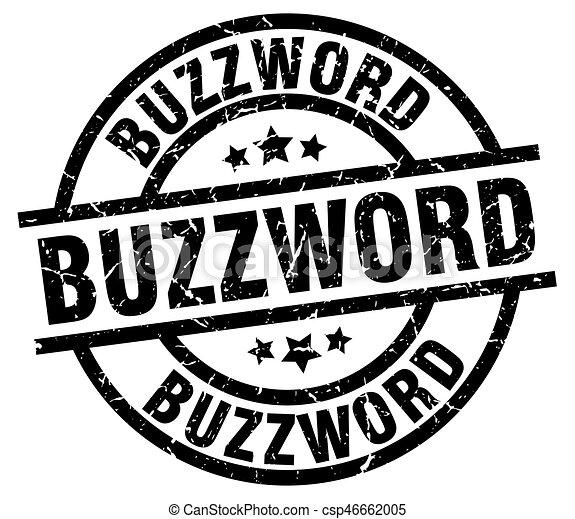 buzzword round grunge black stamp - csp46662005