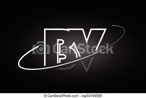 Bv B V Letter Alphabet Logo Black White Icon Design Bv B V Letter