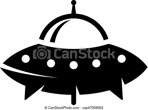 bw icon flying saucer flying saucer icon in single grey clip rh canstockphoto com free flying saucer clipart flying saucer clipart black and white
