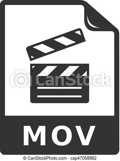 BW icon - Video file
