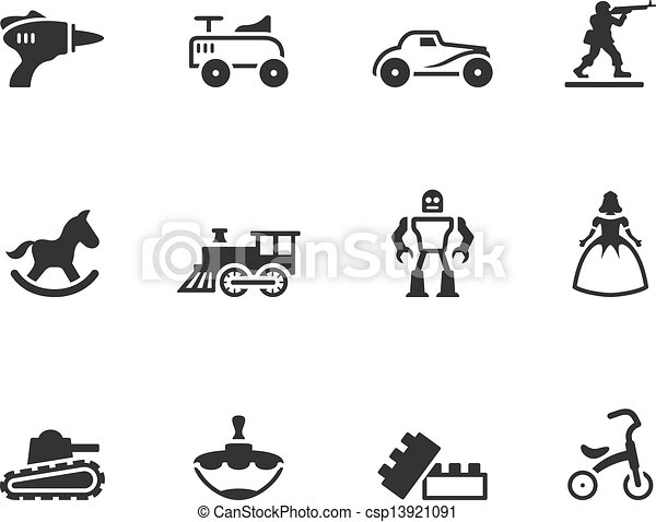 bw icons icons toys vintage toy icons in single color