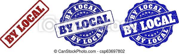 BY LOCAL Grunge Stamp Seals - csp63697802