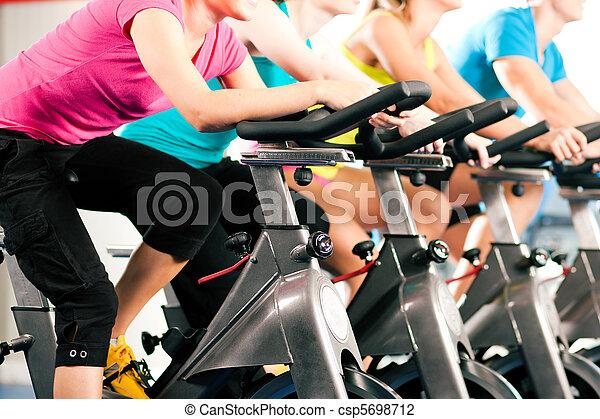 bycicle, gymnase, intérieur, cyclisme - csp5698712