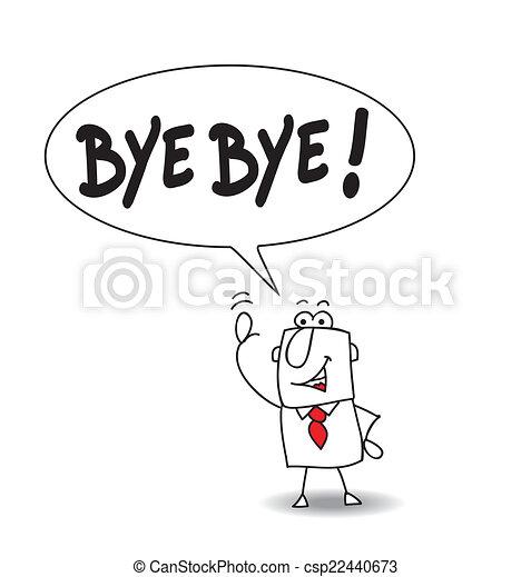 Bye bye - csp22440673