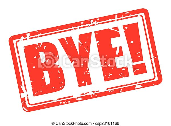 Bye red stamp text - csp23181168