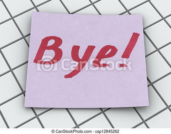 bye - csp12845262