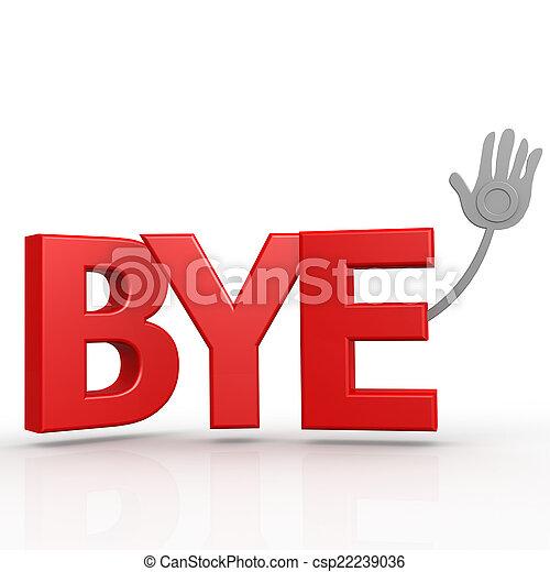 Bye word - csp22239036
