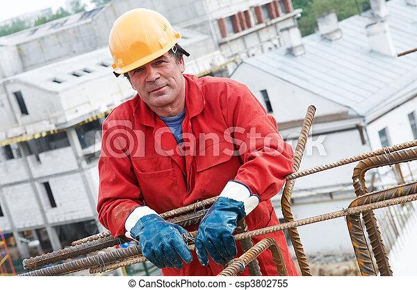 byggmästare, anläggningsarbetare, plats - csp3802755