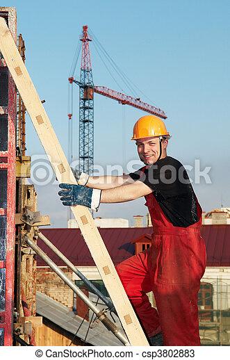 byggmästare, konstruktion sajt - csp3802883