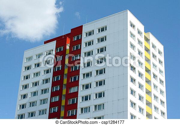 byggnad, bostads - csp1284177