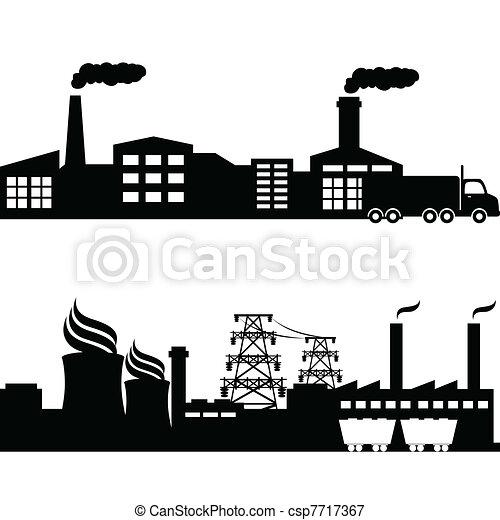 bylina, jaderný, stavení, průmyslový, továrna - csp7717367