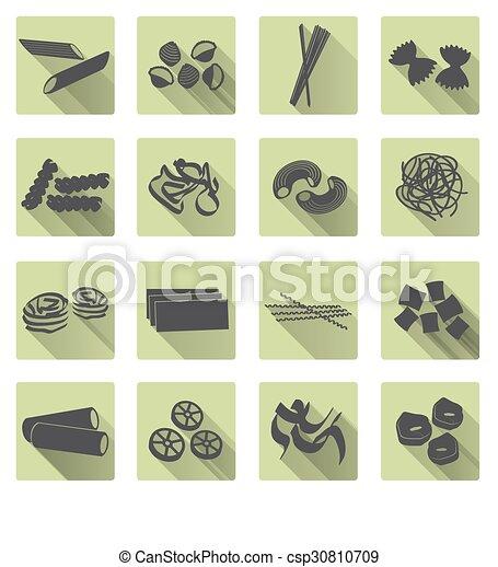 byt, dát, eps10, ikona, barva, strava, rozmanitý, pasta, tisk - csp30810709