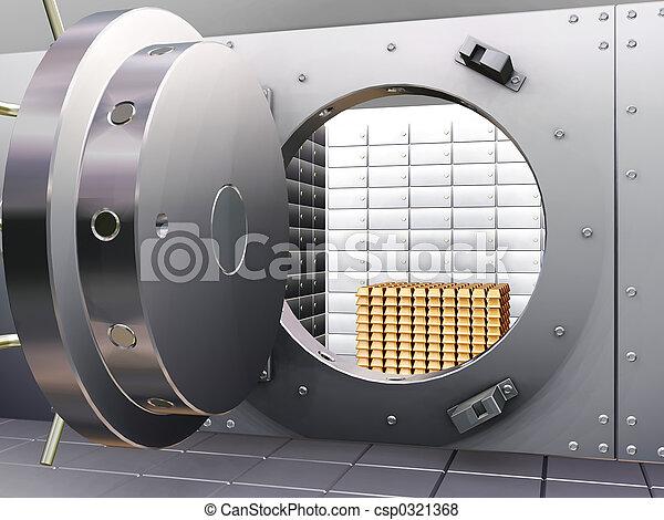 La bóveda del banco - csp0321368