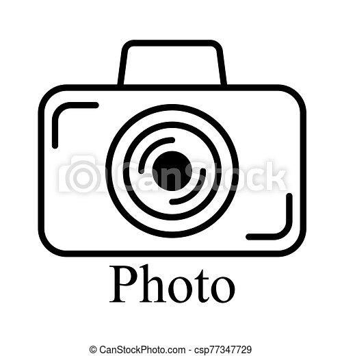 cámara, tono, negro, señal - csp77347729