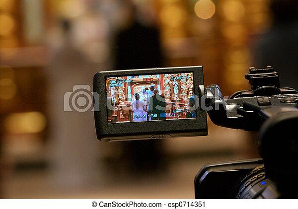 cámara, vídeo, boda - csp0714351