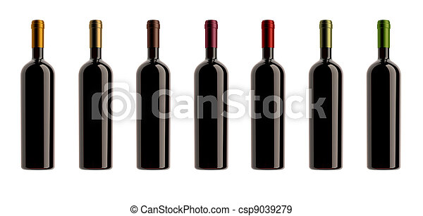 cápsulas, colores, botellas, colección - csp9039279