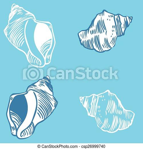Colección de proyectiles: ilustración de silueta vectorial - csp26999740