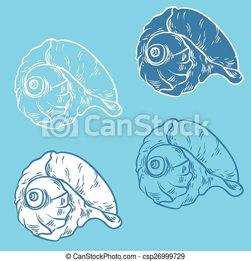 Colección de proyectiles: ilustración de silueta vectorial - csp26999729