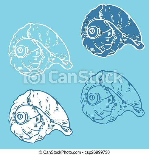 Colección de proyectiles: ilustración de silueta vectorial - csp26999730