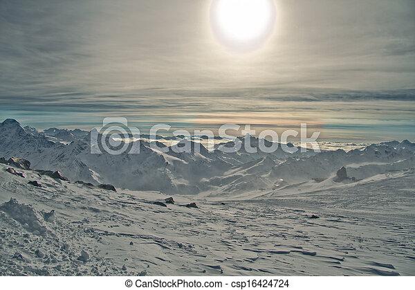 cáucaso, montañas - csp16424724