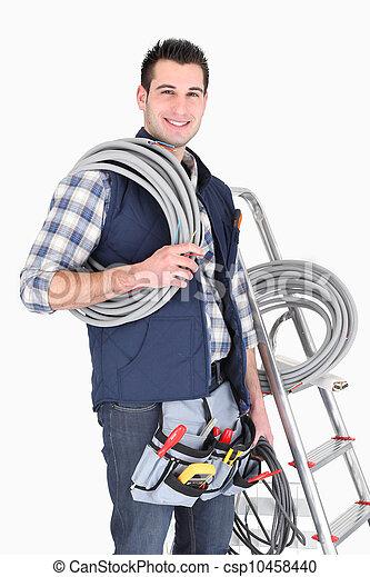 câblage, métier, électricien - csp10458440